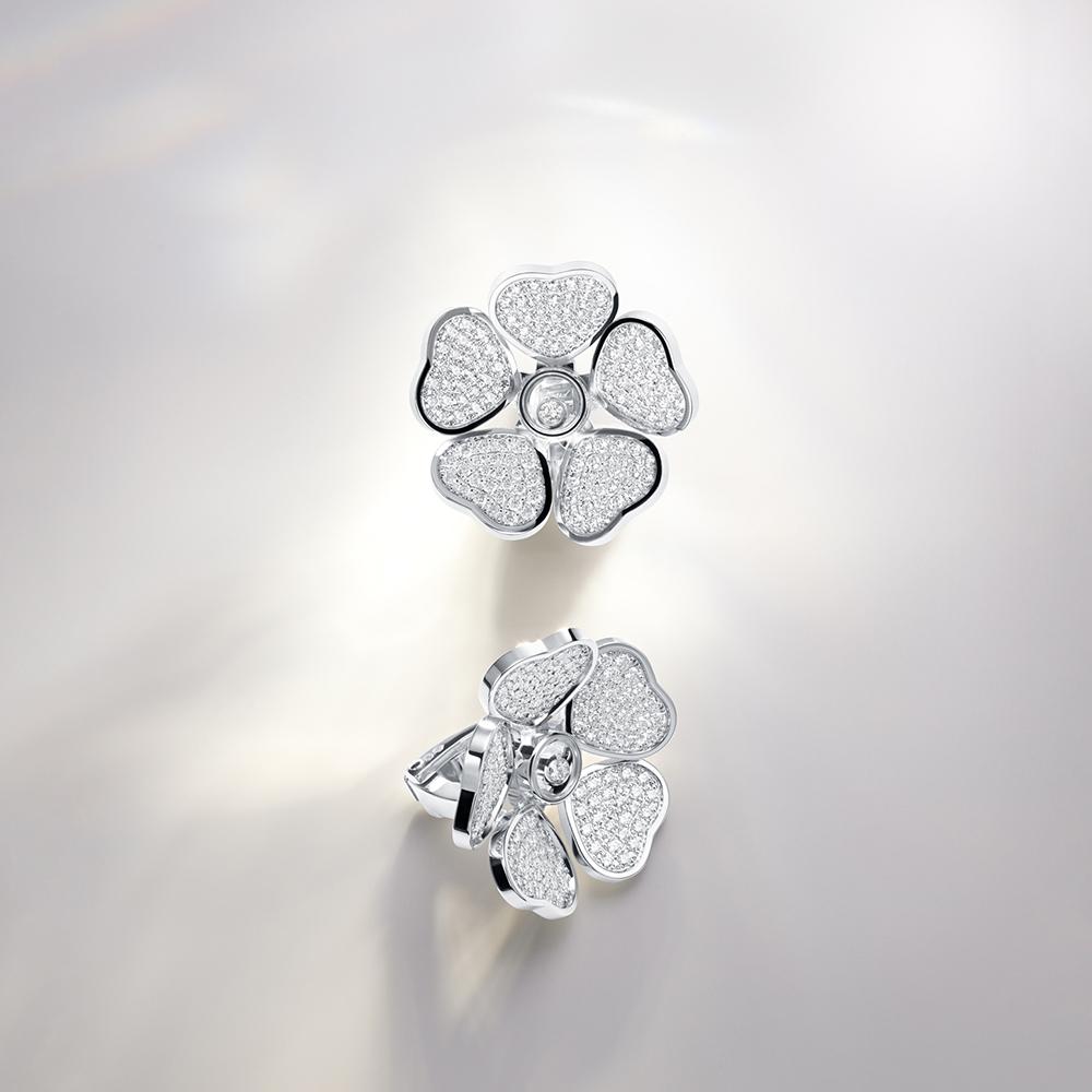Ohrringe aus der Chopards Happy Diamonds-Kollektion