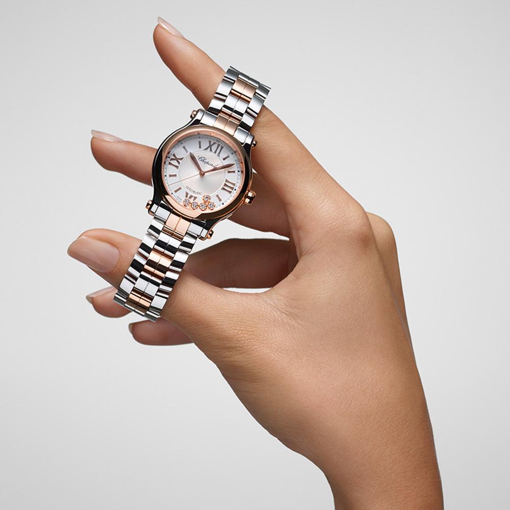 Uhr aus der Chopards Happy Diamonds-Kollektion